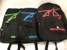 Withdrawn - Late ROT claim 3 x Oxford X-Rider backpacks - RRP £12 each