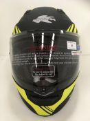 Kappa KV31 Arizona motorbike helmet with flip up chin guard in matt black/yellow - size XXL