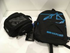 Withdrawn - Late ROT claim Oxford F1 7L mini magnetic tank bag and Oxford X-Rider backpack