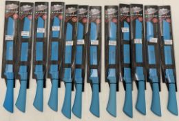 10 x Richardson Sheffield Colour bread knives - RRP £9 each
