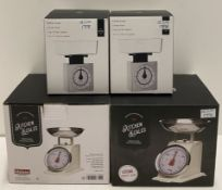 4 x assorted weighing scales by Premier Housewares - RRP £63