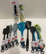 15 x assorted kitchen utensils by Prestige and Zeal - RRP £7-£10.