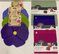 8 x Zeal silicone hot mats - assorted sizes - RRP £12 each