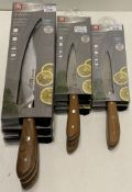 8 x Richardson Sheffield Scandi X50CrMoV15 carving and paring knives - RRP £17-£29.