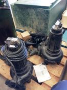 Two Dreno DNA 80/2/110M industrial sump pumps,