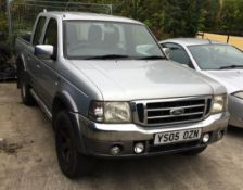 FORD RANGER 2.5 XLT THUNDER PICK UP - diesel - silver Reg. No: YS05 0ZN Rec.