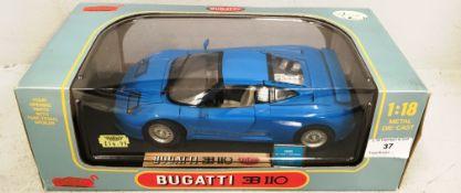 Anson 1/18 scale die cast metal model of Bugatti 110 (boxed)