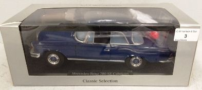Mercedes-Benz Classic Selection 1/18 scale die cast metal model of Mercedes-Benz 280 SE Cabriolet