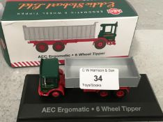 1/76 scale die cast model of Eddie Stobart AEC ergomatic 6 wheel tipper (boxed)