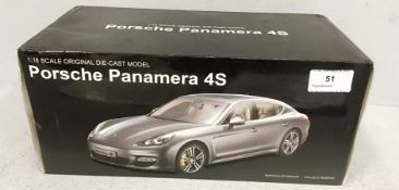 MZ Co Ltd 1/18 scale die cast metal model of Porsche Panamera 4S (boxed) Further
