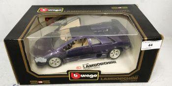 Burago 1/18 scale die cast metal model of Lamborghini Diablo (1990) (boxed)