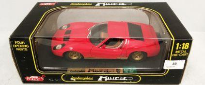 Anson 1/18 scale die cast metal model of Lamborghini Muira (boxed)