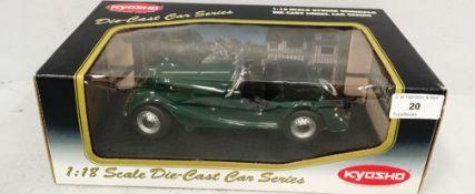 Kyosho 1/18 scale die cast metal model of Morgan 4/4 Series II in green (boxed)