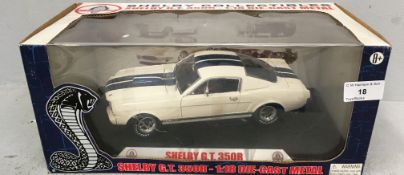 Carroll Shelby 1/18 scale die cast metal model of Shelby GT 350R (boxed) Further