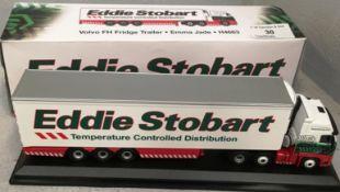1/76 scale die cast model of Eddie Stobart Volvo FH Fridge trailer 'Emma Jade' H4663 (boxed)