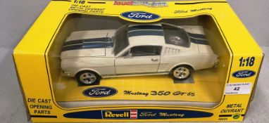 Revell 1/18 scale die cast metal model of Ford Mustang 350 GT 65 (boxed)