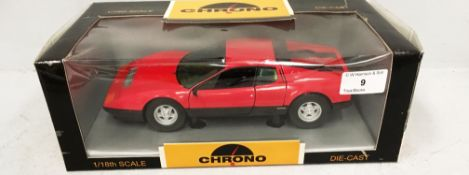 Chrono 1/18 scale die cast metal model of Ferrari (boxed) Further Information