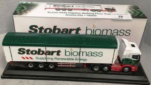 1/76 scale die cast model of Eddie Stobart Scania R440 highline walking floor trailer 'Amelia Ella'
