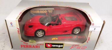 Burago 1/18 scale die cast metal model of Ferrari F50 (1995) (boxed)