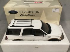 UT models 1/18 scale die cast metal model of Ford Expedition Eddie Bauer Vision in white (boxed)