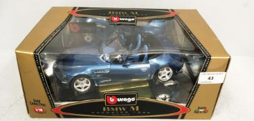 Burago 1/18 scale die cast metal model of BMW M Roadster (1996) (boxed)