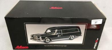 Schuco Pro R 1/18 scale die cast metal model of Mercedes-Benz 600 Bestattungswagen (boxed)