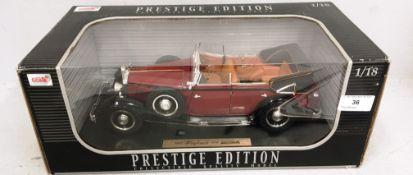 Anson 1/18 scale die cast metal model of Prestige Edition 1932 Maybacj D58 Zeppelin (boxed)