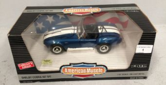American Muscle collectors edition 1/18 scale die cast metal model of Shelby Cobra (boxed)