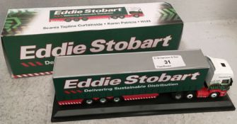 1/76 scale die cast model of Eddie Stobart Scania Topline curtainside 'Karen Patricia' H123 (boxed)