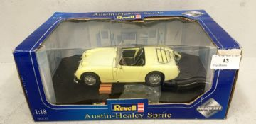 Revell 1/18 scale die cast metal model of Austin Healey Sprite (boxed)