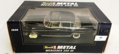 Revell metal 1/18 scale die cast metal model of Mercedes 300 SE (boxed) Further