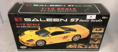 Motor Max 1/12 scale die cast metal model of Saleen S7 Twin Turbo (boxed)