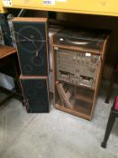 Amstrad TS-35 MKII tower Hi-Fi system with turntable, manual, speakers,