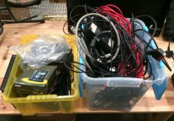 Contents to two boxes - 3 x microphones, Garmin Nuvi satellite navigation system,