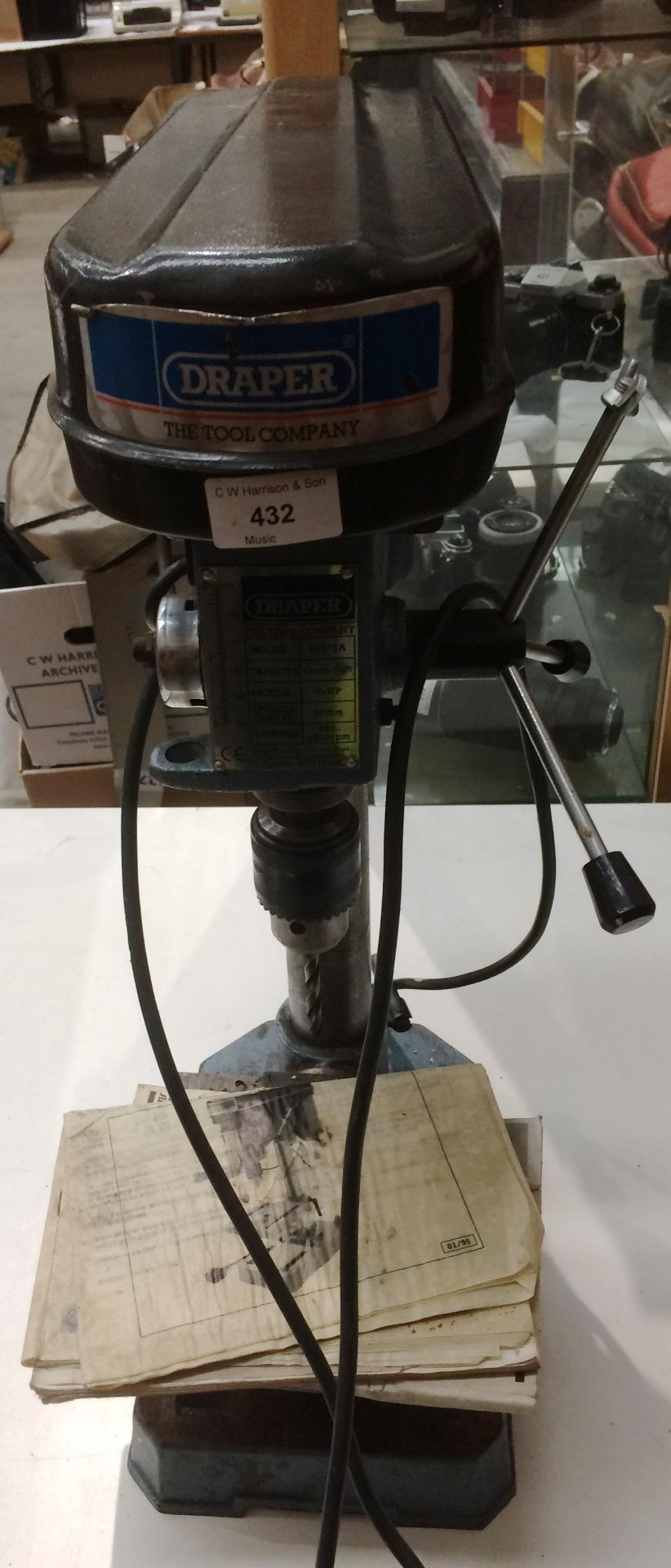Lot 432 - A Draper model D13/5A bench mounting pillar drill - 240v