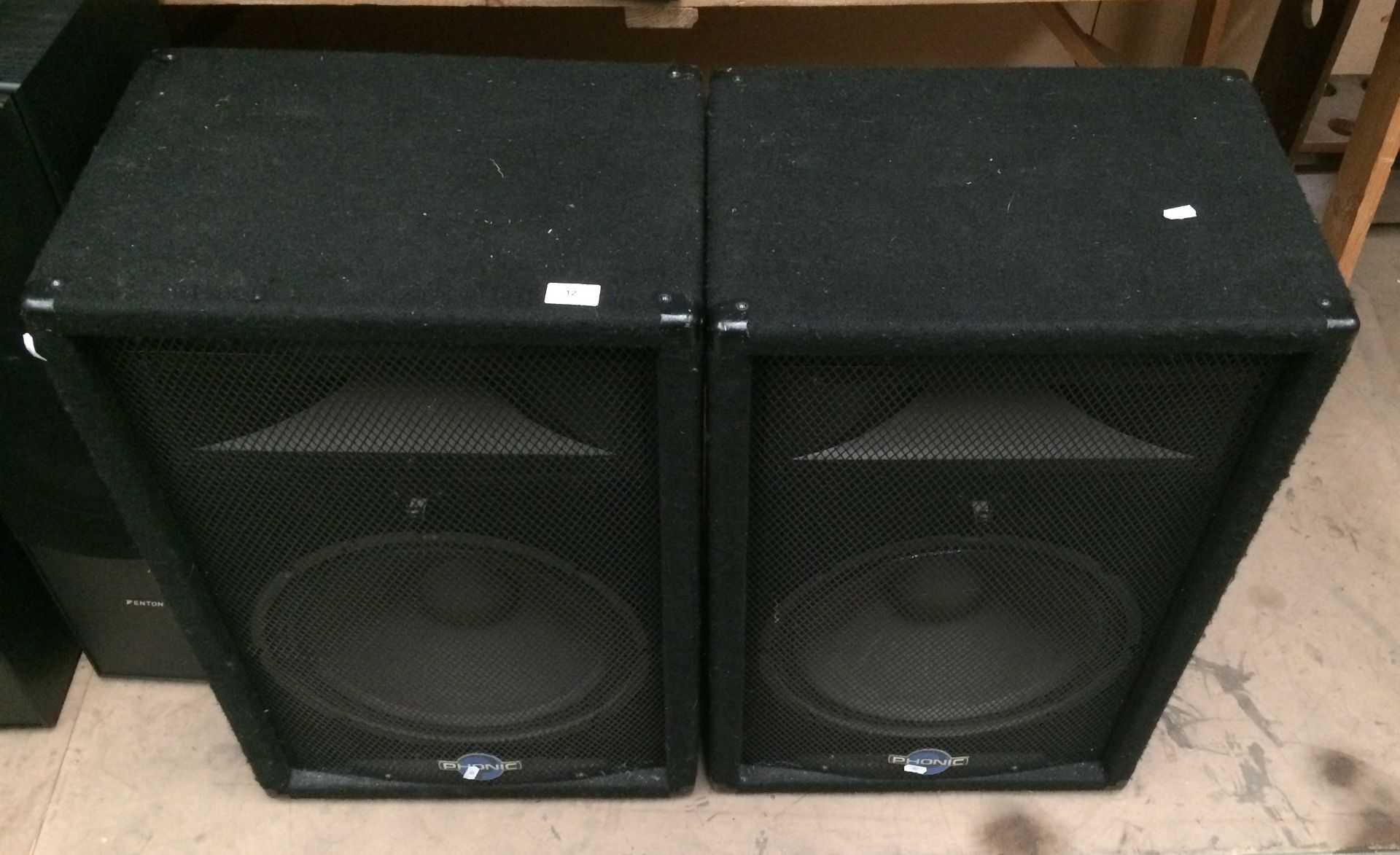 Lot 12 - Pair of Phonic SE715 speakers