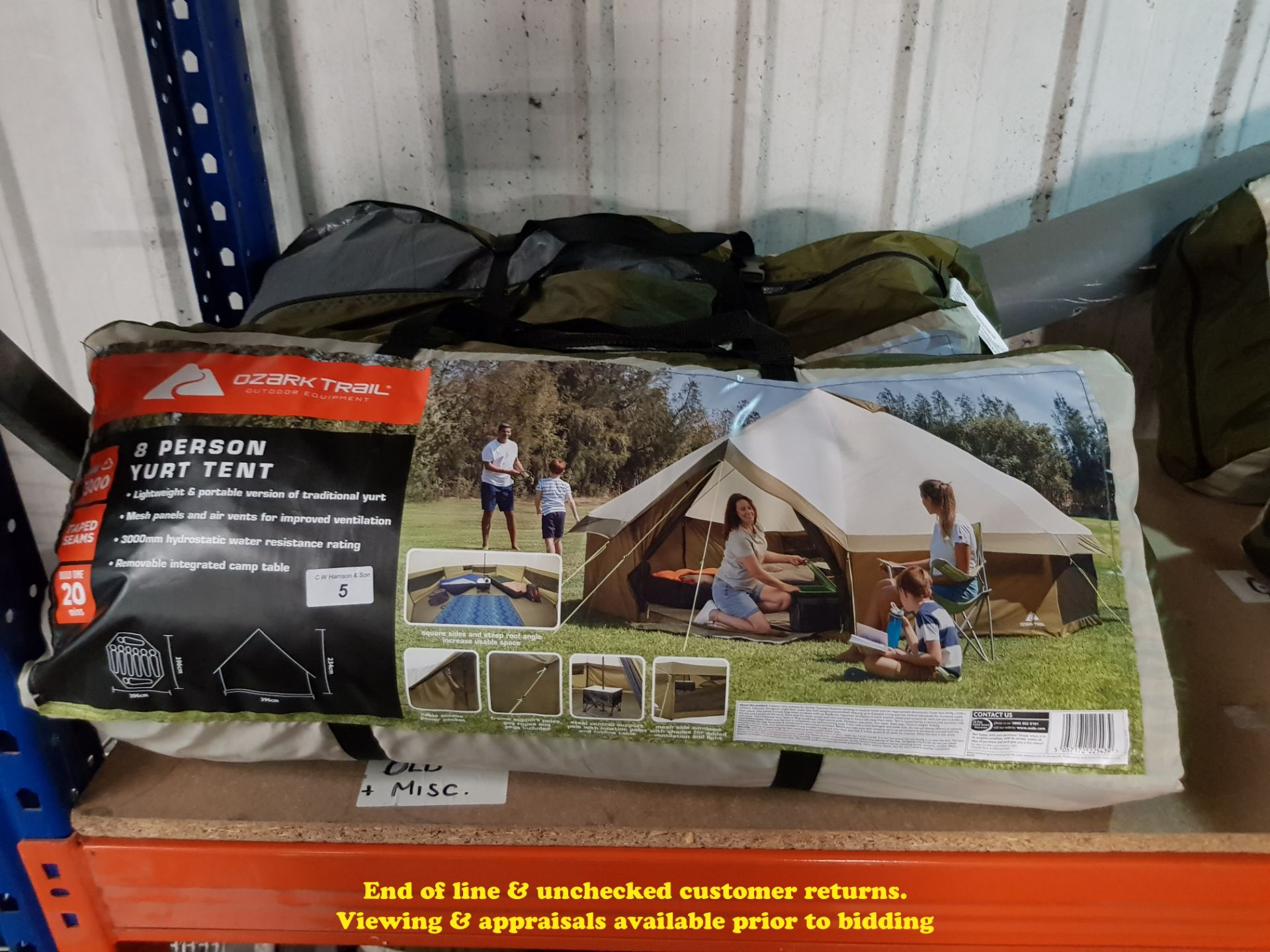 Lot 5 - 2 X OZARK TRAIL 8 PERSON YURT TENT