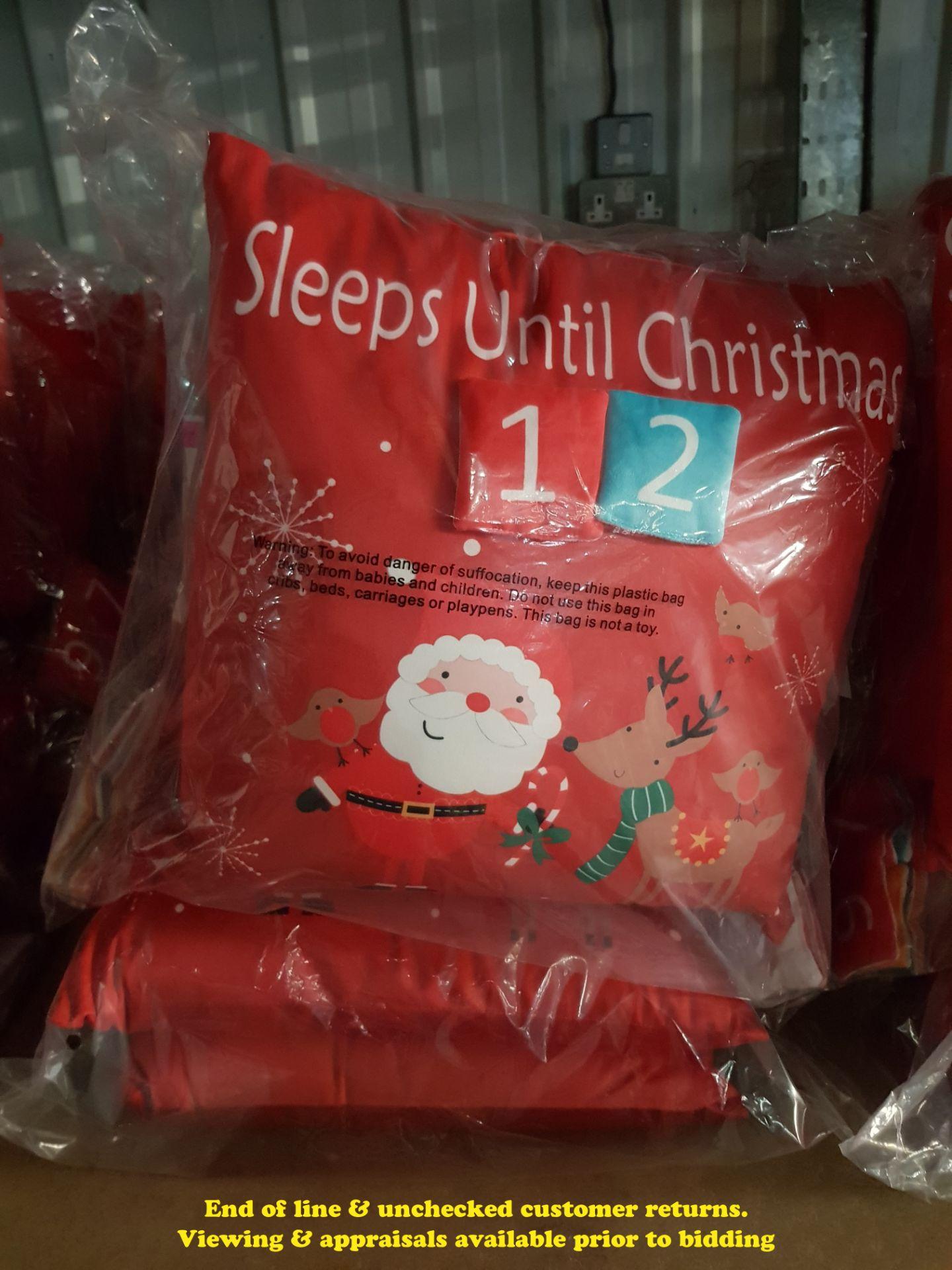 Lot 19 - 6 X COUNTDOWN TO CHRISTMAS CUSHIONS (TWI