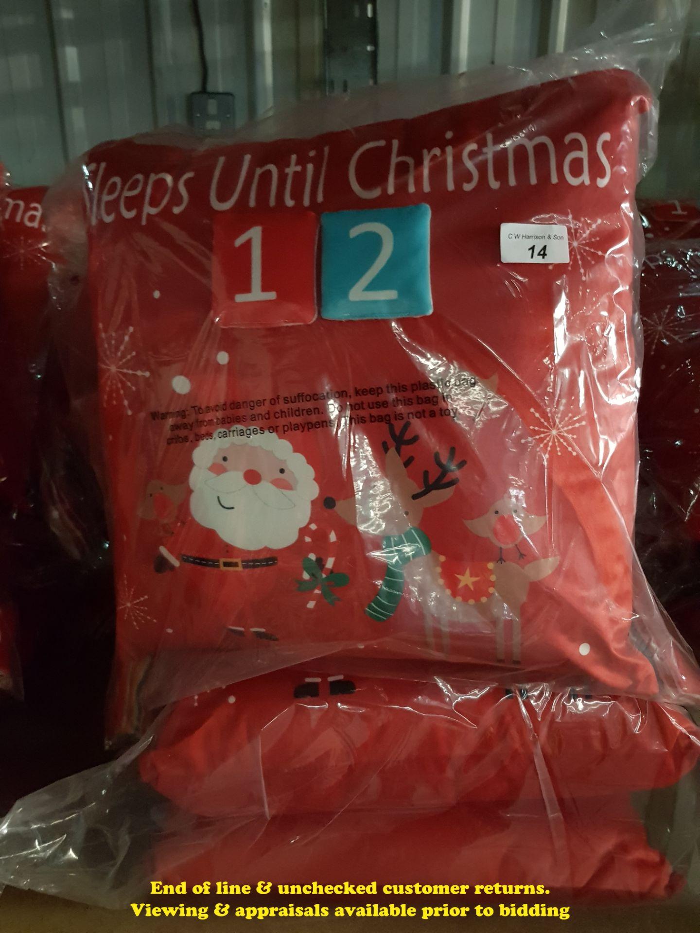 Lot 14 - 6 X COUNTDOWN TO CHRISTMAS CUSHIONS (TWI
