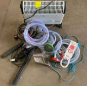 Contents to box - Assorted hoses, heater, power pack,