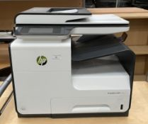 An HP PageWide Pro MFP477dw printer (now with lead and PAT tested)