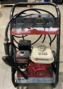 A Parker PPPW-2900 petrol high speed pressure washer