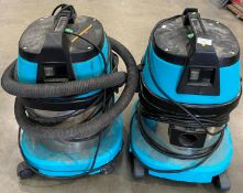 2 x Intrinsic AS15 15L 240v waterproof vacuums