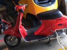 VINTAGE MOPED: SUZUKI RODEO 50 - Petrol - Red. Reg No: E230 SDG. Rec Mileage: 0455.6+. 1st Reg: 25.