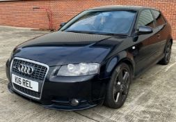 SEIZED VEHICLE: AUDI A3 S LINE 3 DOOR COUPE - diesel - black - black leather interior Reg No: Not