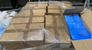 14 x Boxes of 1,000 x blue tint catering box lining plastic bags.