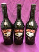 3 x 700ml bottles of Baileys Irish cream