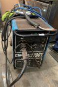 A Clarke Turbo Weld 200T mobile mig welder- 240v commercial plug complete with hose,