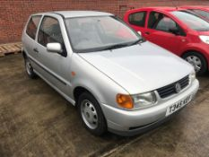 VW POLO 1.0L 3 DOOR HATCHBACK - petrol - silver Reg No T345 KEF Rec Mil 101,450+ 1st Reg 05.03.
