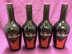 4 x 700ml bottles of Tia Maria coffee liqueur
